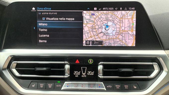 BMW eDrive Zones: la mappa di Area C di Milano