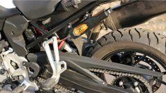 BMW F 750 GS: dettaglio della sospensione Dynamic Esa a controllo elettronico