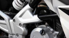 BMW G 310 R: dettaglio delle piastre portapedane