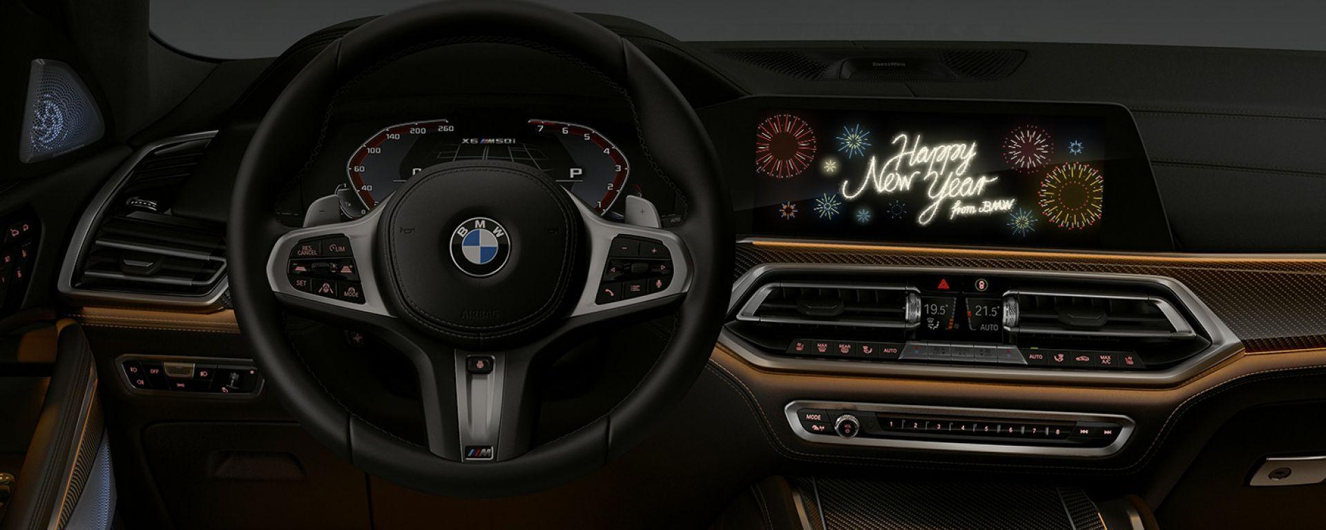 BMW: gli auguri di buon anno arrivano in auto