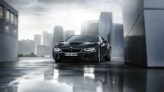 BMW i8 Protonic Dark Silver Edition, visuale frontale