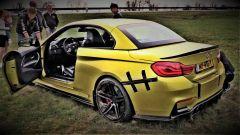 BMW incidentata. Crash della M4 Cabrio al raduno