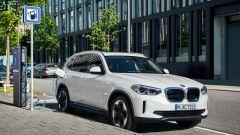 BMW iX3 alla colonnina di ricarica