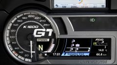 BMW K 1600 GT 2017, c'è la scritta GT nel tachimetro