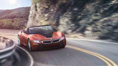 BMW: la i8 spider arriverà nel corso del prossimo anno e potrebbe montare tecnologie per la guida autonoma