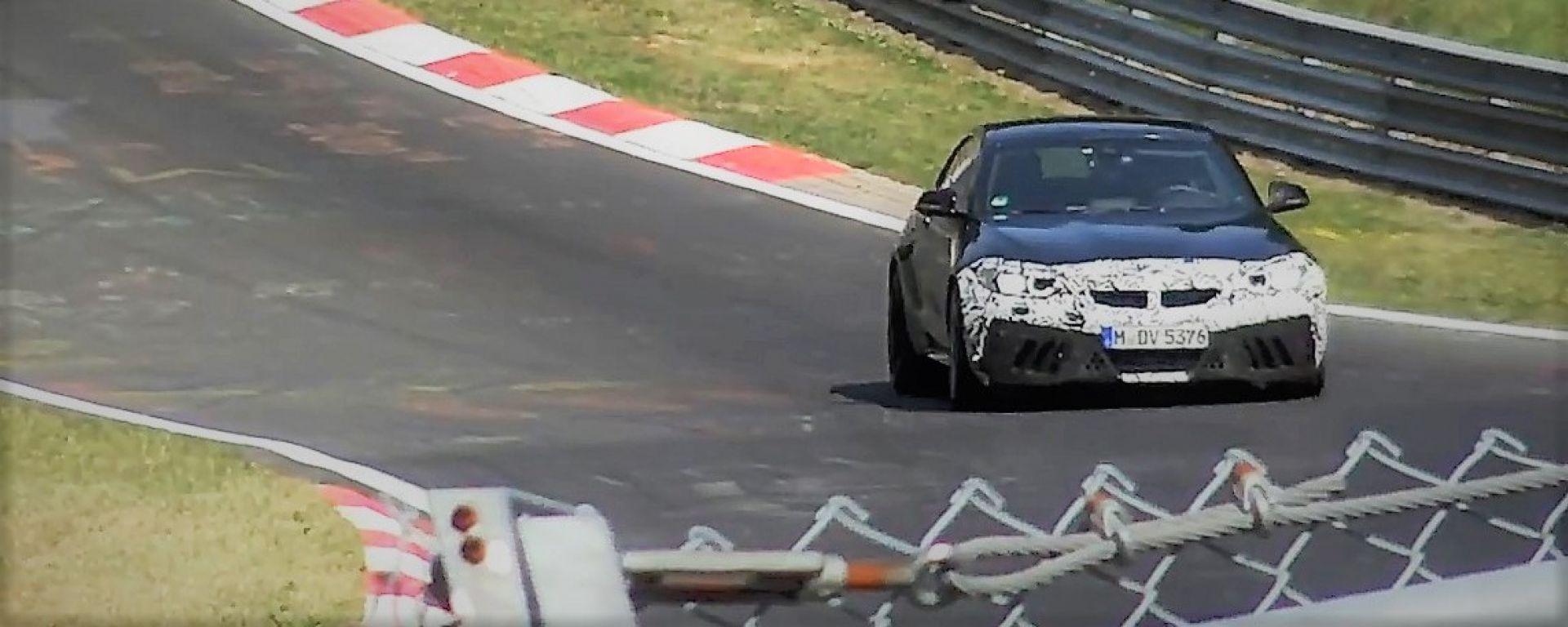 BMW M2 CS: il muletto al Nurburgring