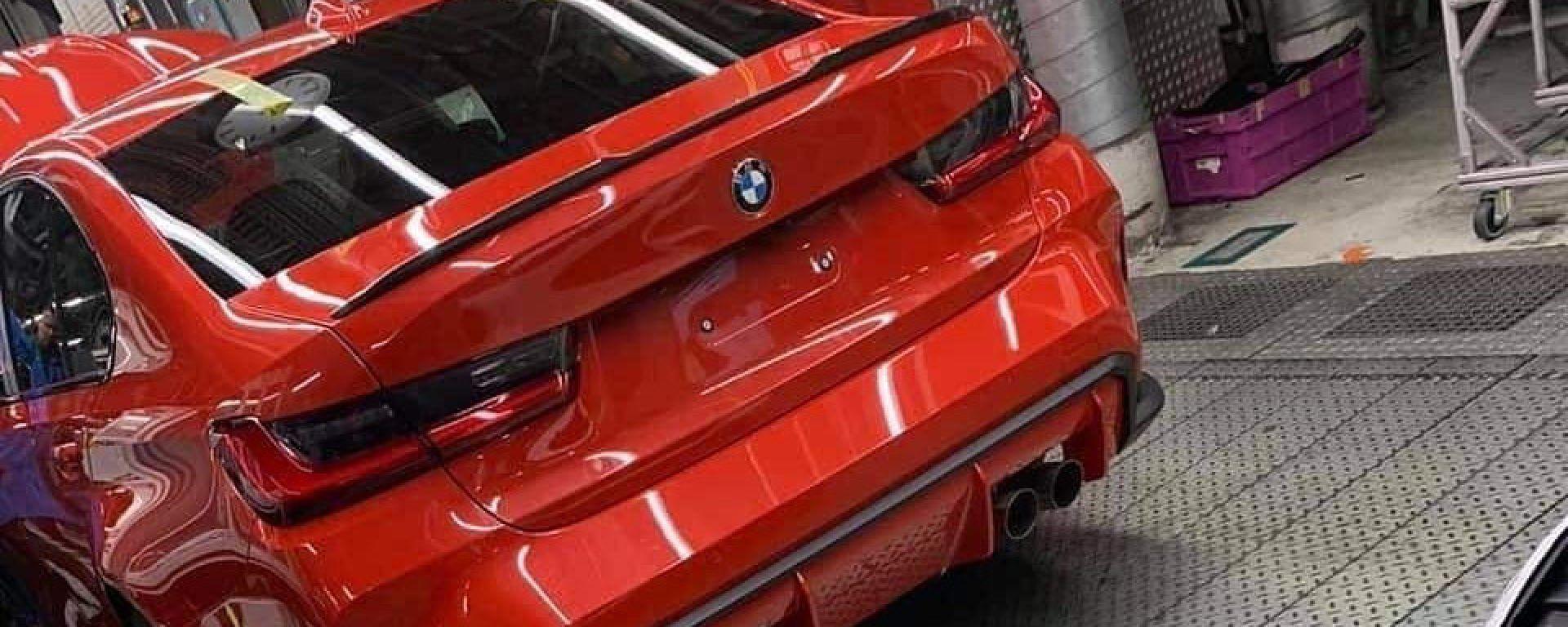 BMW M3 2020: il posteriore