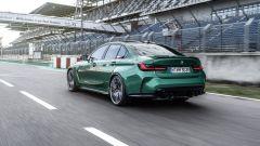 BMW M3 2021: vista di 3/4 posteriore