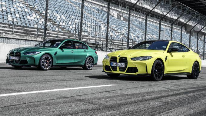 BMW M4 Coupé e M4 berlina: le due sportive tedesche in pista