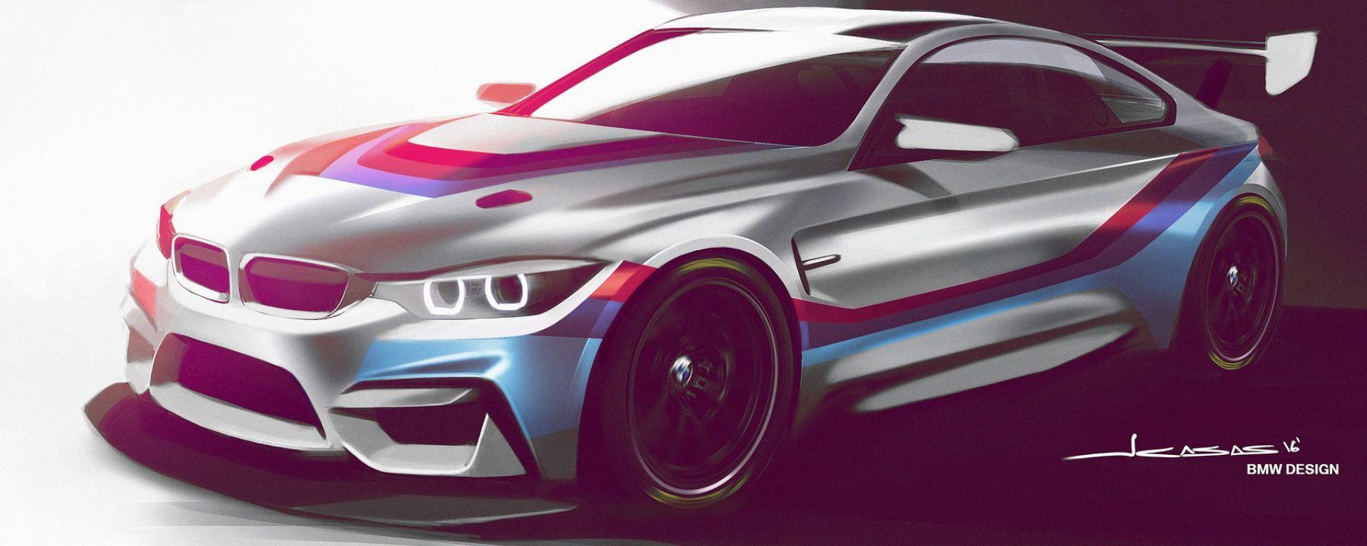 BMW M4 GT4: l'M4 da gara, ma quasi di serie, sarà su pista nel 2018