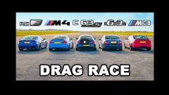 Bmw M4 vs Mercedes AMG C63 vs Lexus RC F vs vecchie Bmw M3 e Mercedes C63: video Youtube