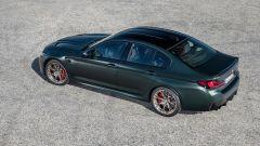 BMW M5 CS 2021, 3/4 posteriore dall'alto