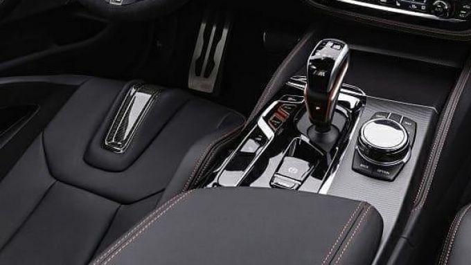 BMW M5 CS 2021, la console centrale