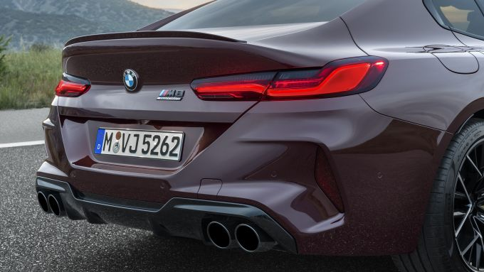 BMW M8 Gran Coupe e BMW M8 Competition Gran Coupe: posteriore