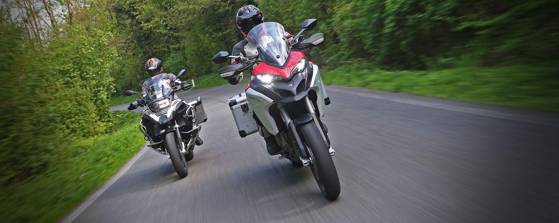 Ducati vs BMW: Multistrada 1200 Enduro sfida R 1200 GS Adventure