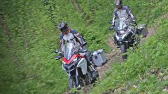 Ducati vs BMW: Multistrada 1200 Enduro sfida R 1200 GS Adventure - Immagine: 17