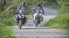 Ducati vs BMW: Multistrada 1200 Enduro sfida R 1200 GS Adventure - Immagine: 18