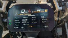 BMW R 1250 GS Adventure: la strumentazione con i dati di viaggio