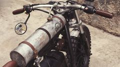 BMW R65 Mad max by Delux Motorcycles, il serbatoio cilindrico