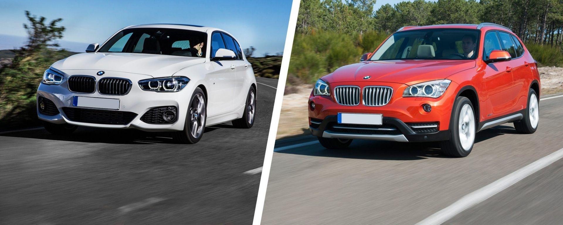 BMW Serie 1 e BMW X1, ambedue oggetto di richiami ufficiali. In UK