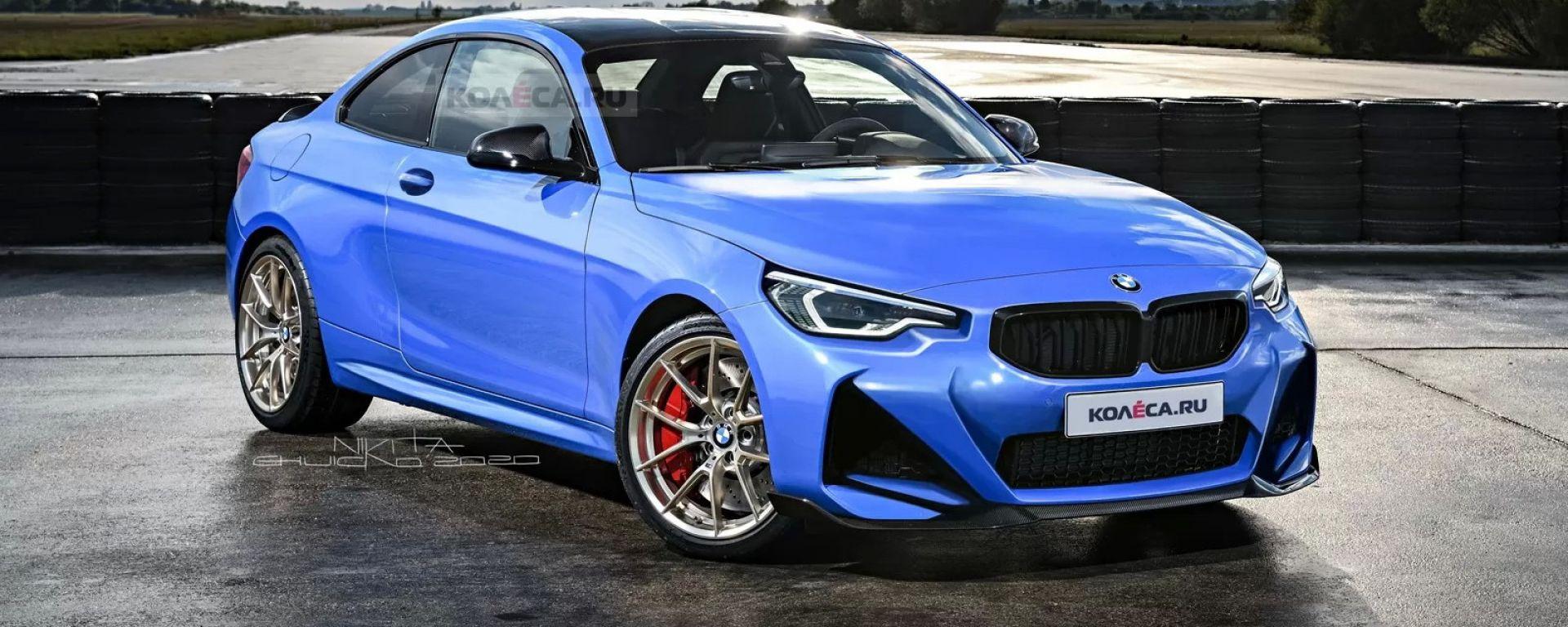 BMW Serie 2 Coupé 2021: rendering di Nikita Chuyko