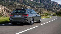 BMW Serie 3 Touring: vista 3/4 posteriore
