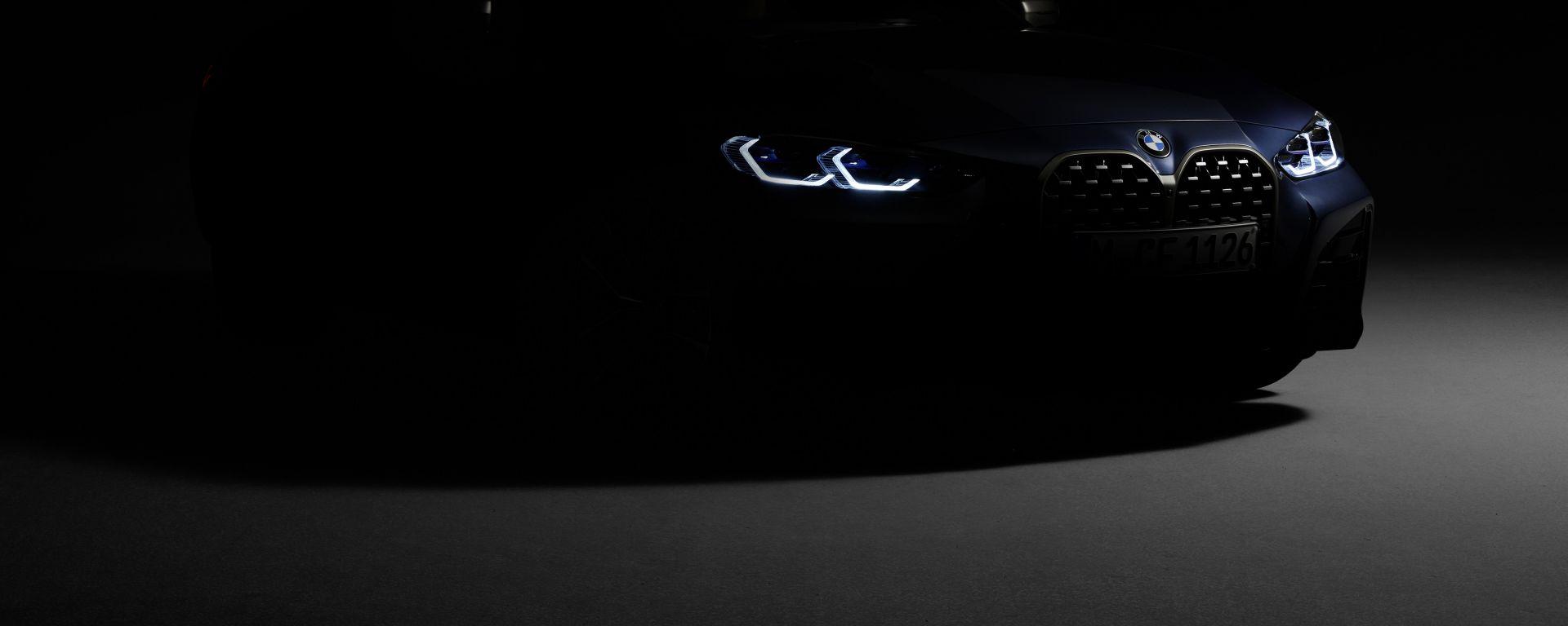 BMW Serie 4 Coupé 2020: la prima foto teaser ufficiale