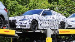 BMW Serie 4 Coupé, le foto spia di tre quarti