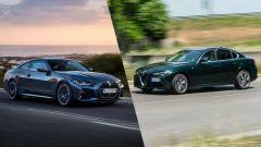 BMW Serie 4 Coupé vs Alfa Romeo Giulia: confronto al volante