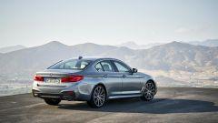 BMW Serie 5 2017: il trequarti posteriore