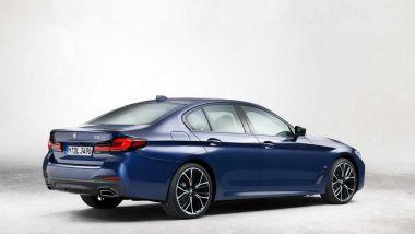 BMW Serie 5 2021: il posteriore