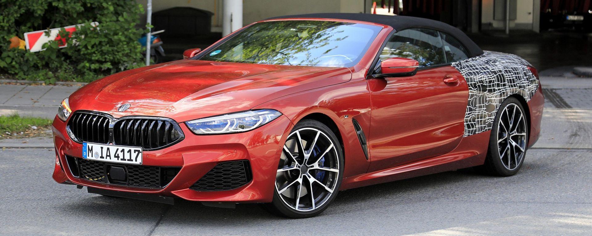 BMW Serie 8: la cabrio (quasi) senza veli. Debutto nel 2019