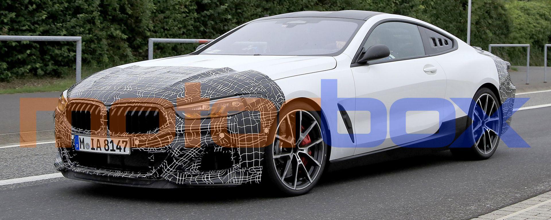 BMW Serie 8: gli scatti del misterioso prototipo