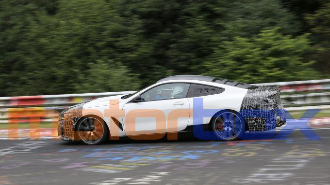 BMW Serie 8: il prototipo, vista laterale