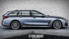 BMW Serie 8 Touring, il render di XTomi Design
