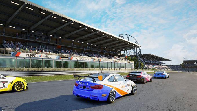 Bmw Sim Media Challenge 2021: la Bmw M4 GT4 di MotorBox al Nurburgring