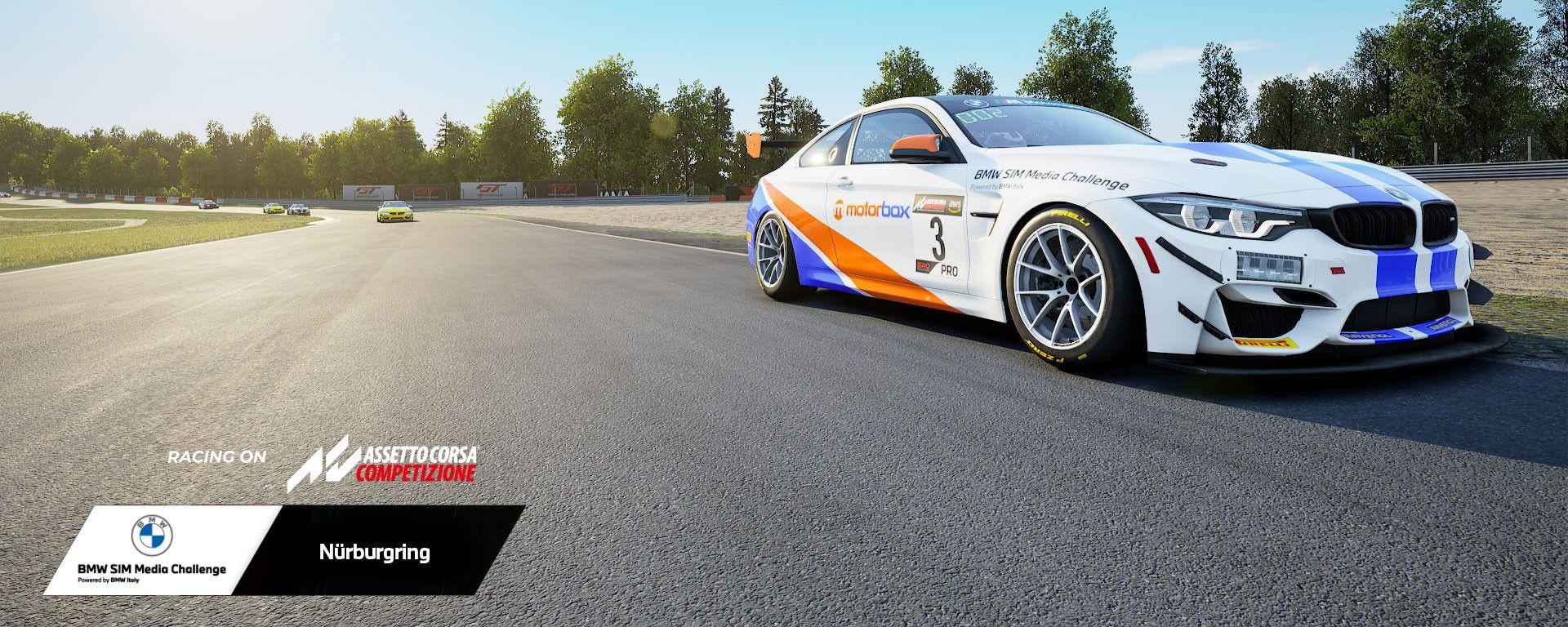 Bmw Sim Media Challenge 2021: la Bmw M4 GT4 di MotorBox
