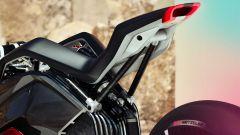 BMW Vision DC Roadster: la coda con il faro a LED, il telaietto reggisella e la parte posteriore del motore elettrico