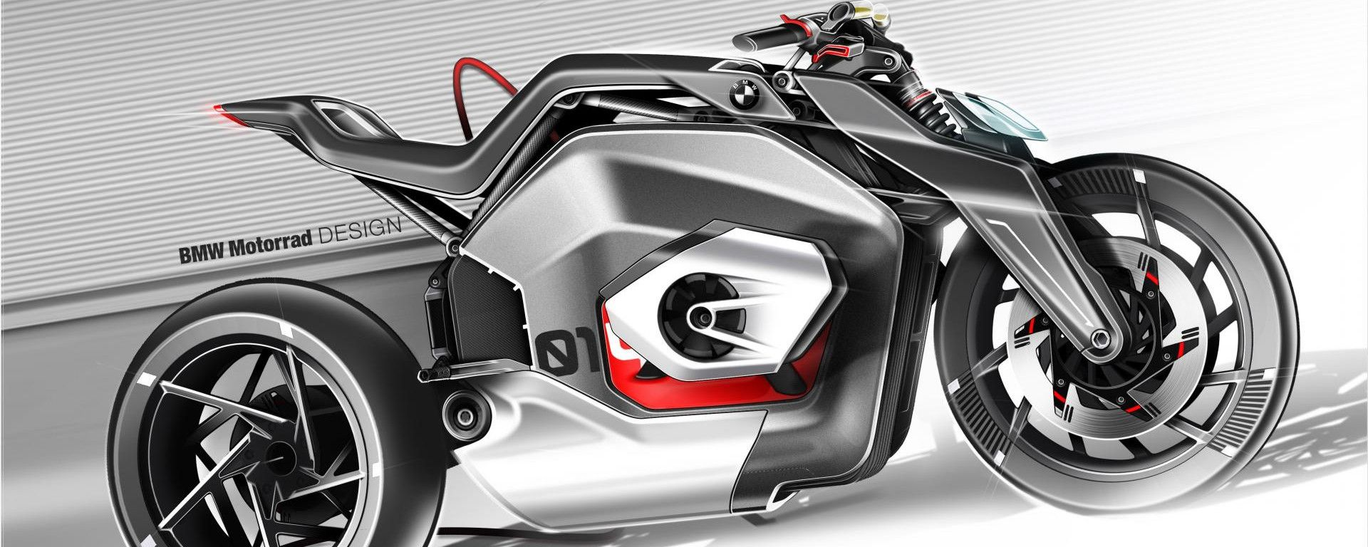 BMW Vision DC Roadster: una immagine del concept elettrico tedesco