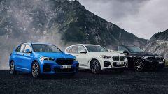 BMW X1, X3 e X5 plug-in hybrid, foto di famiglia