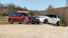BMW X1 xDrive20d  vs. Land Rover Discovery Sport 2.0d i4 TD4 R-Dynamic S