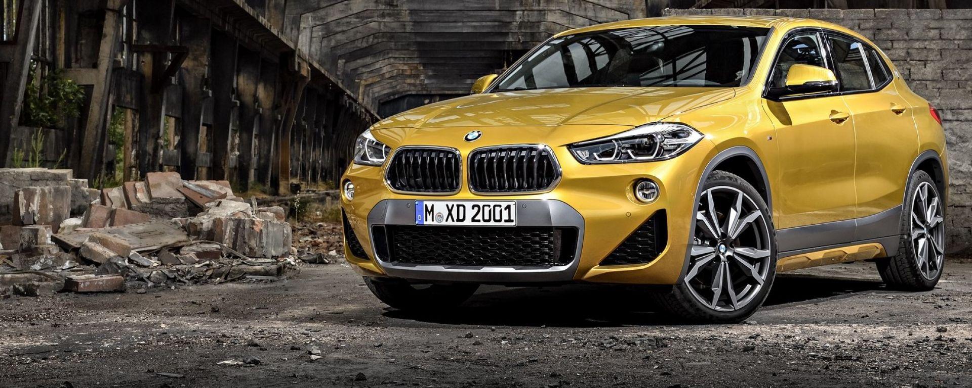 BMW X2, le foto ufficiali