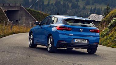 BMW X2 xDrive25e, il posteriore