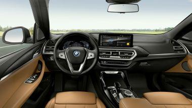 BMW X3 2022 facelift: gli interni