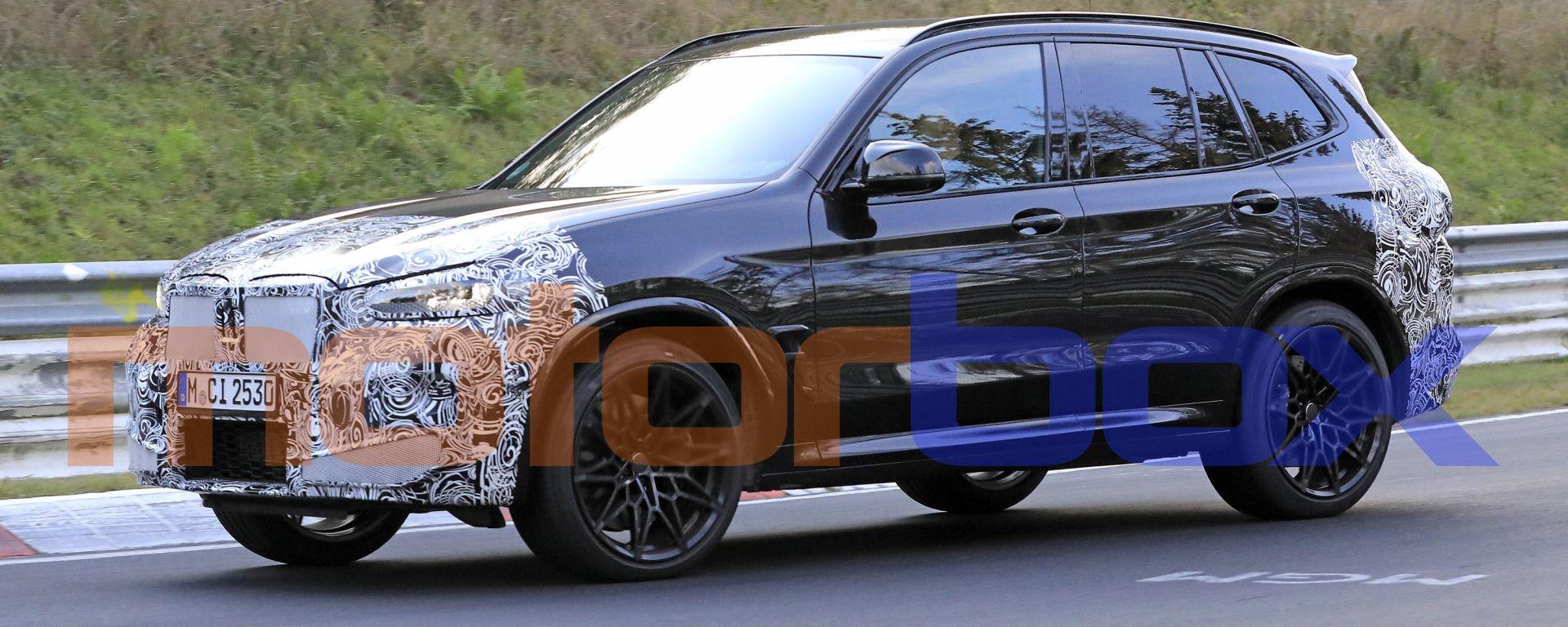 BMW X3 M 2021: le foto del facelift