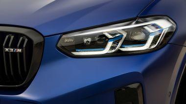 BMW X3 M Competition 2022: i nuovi fari anteriori