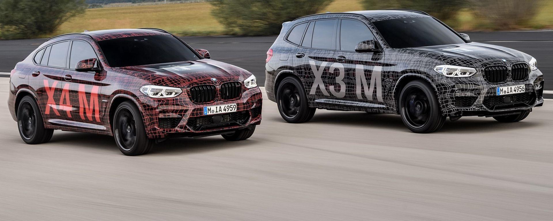 BMW X3 M e X4 M: le prime immagini ufficiali dei SUV sportivi