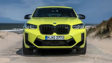 BMW X4 M Competition 2022: visuale frontale