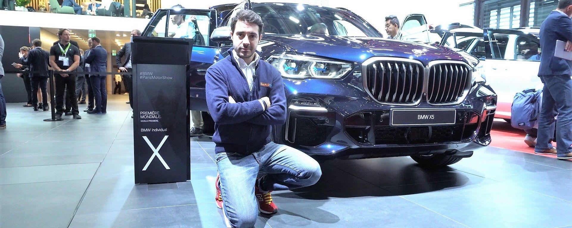 Nuova BMW X5 2018: in video dal salone di Parigi 2018