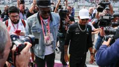 Bolt e Hamilton - GP Usa F1 2017